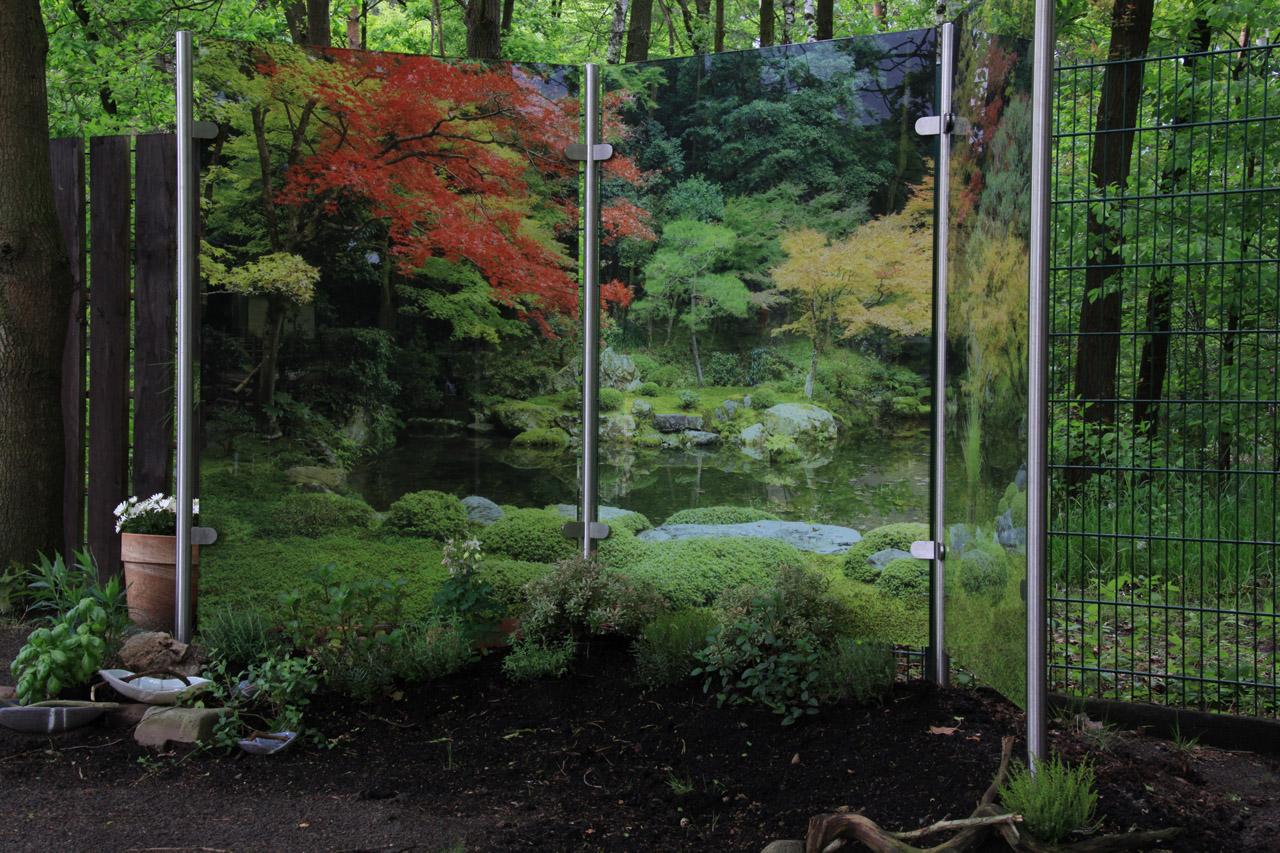 Glas Sichtschutz Fur Balkon Garten Terrasse Meitinger Glas