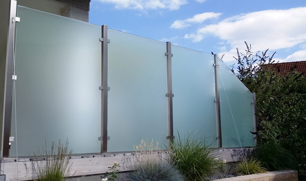 glas windschutz f r balkon garten terrasse meitinger glas m nchen garching. Black Bedroom Furniture Sets. Home Design Ideas
