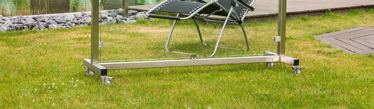 Mobiler Glas Windschutz Für Balkon Garten Terrasse Meitinger