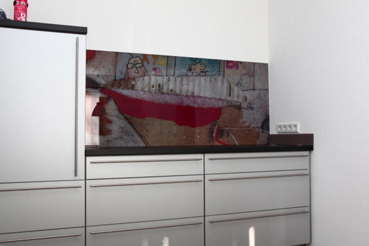 Küchenrückwand Glas München maßgenaue glas küchenrückwand mit motiv meitinger glas münchen
